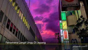 Fenomena Langit Ungu Di Jepang